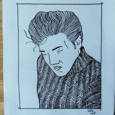 Elvis in knitted sweater by lindavanbruggen.nl