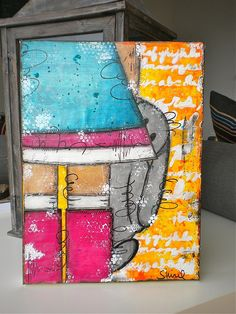 original mixed media canvas by Studio Shirel, via Flickr