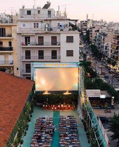 Παλάς (Παγκράτι) Attica Greece, Outdoor Cinema, Fomo, Under The Stars, Neoclassical, Athens, Mansions, House Styles, City