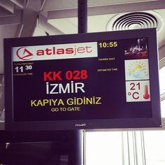 #istanbul #izmir #atatürkairport #atlasjet #GoToGate #dönüş #yinegelicem