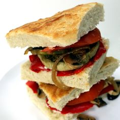 The Stay At Home Chef: Mediterranean Sandwich with Roasted Eggplant