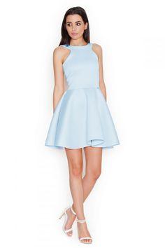 4f8383d1039 Dámské šaty K265 - Katrus - 38 - světle modrá Večerní Šaty