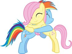 Me and rainbowdash as fillys