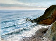 On the Ebb, Maer, North Cornwall. Limited Edition Giclee Print 60 x 90 cm on heavy art Paper. £125