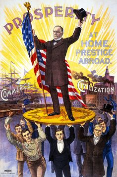 US Presidential Election 1896, McKinley, Antique Vintage, HD Print or Canvas in Art, Prints | eBay