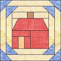 Pineapple Block House Nice approach -- works with strip quilting methods