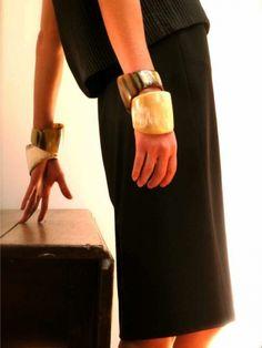 LOVE the horn bracelets from Kora designs