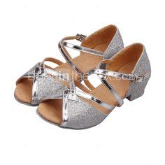 4c262199b Mulheres Glitter Sapatos de Dança Latina / Dança de Salão Lantejoulas /  Gliter com Brilho Sandália Salto Baixo Não Personalizável Dourado / Fúcsia  / Azul ...