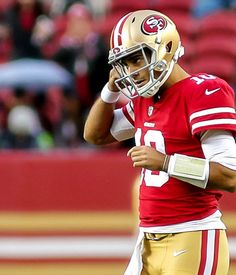 Grant Cohn informs Kyle Shanahan of potential telegraphing from 49ers QB Jimmy Garoppolo