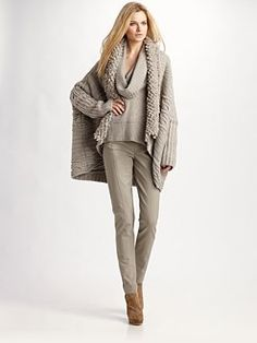 Give me skinny jeans, great bootie shoes, a great top with a sweater, vest or jacket and I'm happy.