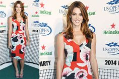 Ashley Greene veste Preen all'Heineken U.S. Open 2014 party
