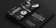 White foil business cards on black uncoated stock - striking and clean!
