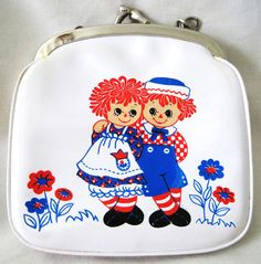 Small Raggedy Ann and Andy coin purse