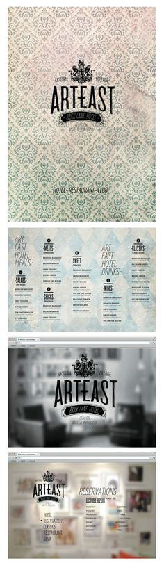 ART EAST - hotel visual identity by Christopher van Wilson