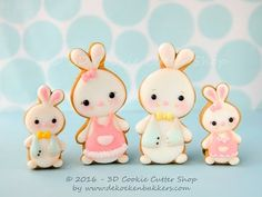 Learn how to decorate Easter Bunny cookies - YouTube