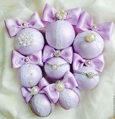 Купить Новогодние шары - бледно-сиреневый, нежно-сиреневый, новогодние игрушки, новогодние подарки