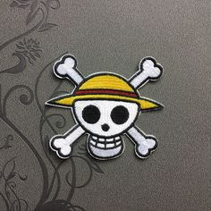 One Piece Skull Patches iron on patch Sew on patch punk patches Bag patch