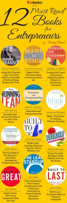 12 Books Entrepreneurs Must Read Pictures, Photos, and Images for Facebook, Tumblr, Pinterest, and Twitter