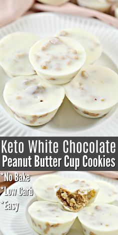 Chocolate No Bake Cookies, Peanut Butter Cup Cookies, Chocolate Peanut Butter Cups, Keto Cookies, White Chocolate, Chip Cookies, Baking Cookies, Low Carb Sweets, Low Carb Desserts