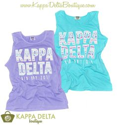 Bid Day is the best day! Make yours even better with a KD Boutique Custom Bid Day Tank!