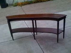 1000 images about curved table on pinterest curved sofa for Curved sofa table for sectional