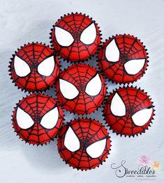 Spiderman Birthday Cake, Avengers Birthday, Superhero Birthday Party, 6th Birthday Parties, Birthday Cupcakes, 3rd Birthday, Spiderman Theme Party, Birthday Ideas, Happy Birthday