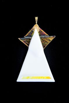 Fused glass ornaments: Angels