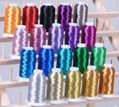Machine Embroidery Thread, Machine Embroidery Projects, Embroidery Machines, Thread Holder, Stationary School, Thread Spools, Metallic Thread, Silk Thread, Janome