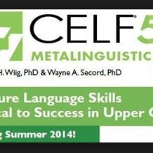 First impressions of the CELF 5 Metalinguistics Test Speech Language Pathology, Speech And Language, Disorders, Therapy, Success, Reading, School, Languages, Reading Books