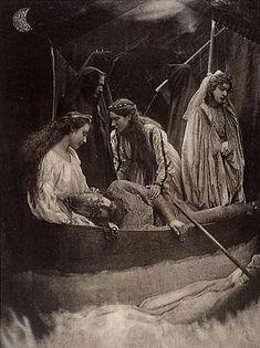 The Passing of Arthur by Julia Margaret Cameron :: artmagick.com