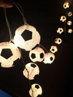 20 LED Football - Cotton Ball String Lights for Home Decoration,Wedding,Party,Bedroom,Patio and Decoration