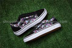 2818b1143762 Vans Old Skool Multicolor Print Black Skateboard Shoes