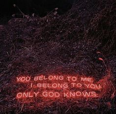 Artist Lee Jung sends all kinds of tangible messages with these neon text-based installations. The South Korea-based photographer creates the messages and Neon Words, Love Words, You Belong With Me, Love You, Neon Quotes, Lee Jung, Ex Machina, Visual Statements, Red Aesthetic