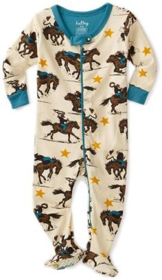 Hatley - Baby Boys Infant Cowboys All Over Footed Coverall, Natural, Months… Baby Boys, Baby Boy Cowboy, Cow Boys, Baby Boy Outfits, Kids Outfits, Western Babies, Baby Kids Clothes, Everything Baby, Baby Boy Fashion