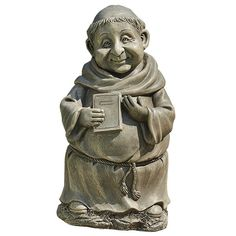 """MONK WITH BOOK OUTDOOR STATUE - 12"""""""