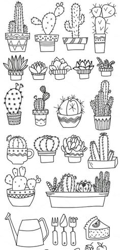 Doodle art 712061391074936985 - Bullet journal doodles Doodle drawings Cactuses doodle Gri Source by Bullet Journal Ideas Pages, Bullet Journal Inspiration, Doodle Drawings, Easy Drawings, Tattoo Drawings, Doodle Illustrations, Flower Drawings, Zentangle Drawings, Doodle Sketch