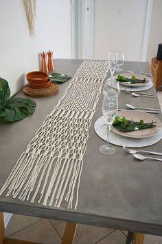 LUXE Macrame Table Runner / Wedding Table Runner / Christmas