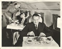 Airplane meal service, 1939 - :sigh: Once upon a time, when riding on a plane was enjoyable.