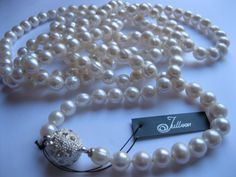 Long Pearl Necklaces for MarikoPearls Jewellery Online Long Pearl Necklaces, Pearl Jewelry, Pearl White, Pearls, My Style, Jewellery, Jewels, Beads, Schmuck