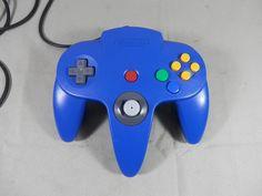 Vintage Official Nintendo 64 Controller BLUE Original OEM Genuine N64 Model NUS-005 by WesternKyRustic on Etsy