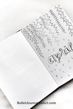 My favorit April Spreads for 2021 Bullet Journal Index, April Bullet Journal, Bullet Journal Quotes, Bullet Journal Tracker, Bullet Journal Spread, Journal Pages, Journal Ideas, Bujo Weekly Spread, Spreads