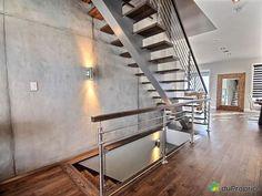 Superbe propriété 58 X 45 entièrement aménagée @ Terrain 18000pc \ Grande cour pouvant accueillir une piscine \ Cellier \ Terrasse couverte \ OCCUPATION RAPIDE DISPONIBLE Évaluation fixée à 903 000$ en 2014 par une firme d'évaluateurs agréés. Lignes modernes, ambiance et décoration réalisées par un designer professionnel.Laissez-vous séduire par le plus beau développement de la rive-sud avec cette prestigieuse... La Rive, Decoration, Stairs, Design, Home Decor, Staircases, House 2, Large Backyard, Minimalist