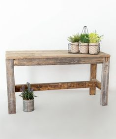 This barnwood entry table is made from reclaimed wood. This reclaimed wood entry table is handmade and is delivered fully assembled. Furniture Projects, Furniture Plans, Wood Furniture, Wood Projects, Modern Furniture, Furniture Repair, Furniture Stores, Victorian Furniture, Entryway Furniture