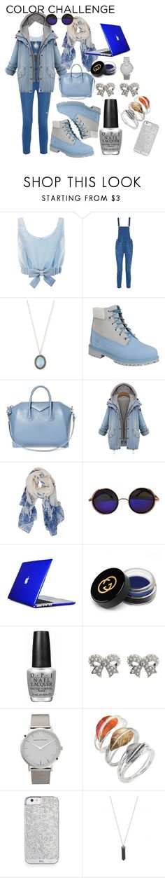 """Blue Silver"" by lenachkka ❤ liked on Polyvore featuring Honor, Rebecca Minkoff, Armenta, Timberland, Givenchy, Humble Chic, Speck, Gucci, OPI and M&Co"