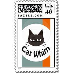 Cat Whim Postage Stamp