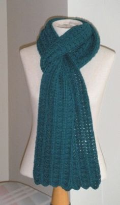 Crochet Shell and Bar Scarf free pattern.