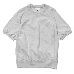 Engineered Garments Short Sleeve Crew/ Solid Jersey Gray
