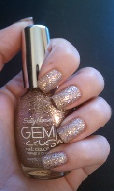 Sally Hansen Gem Crush -- Big Money.  Really cute just brushed on the tips of a neutral mani.