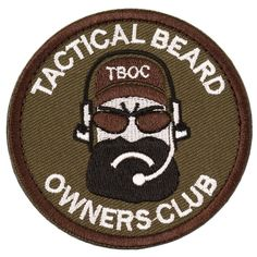 Tactical Beard Owners Club Military Morale Patch