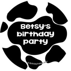 Cow Personalized Stickers - Party Supplies from Birthday in a Box